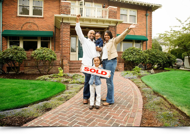 Sell My House Fast Family Holding SOLD sign