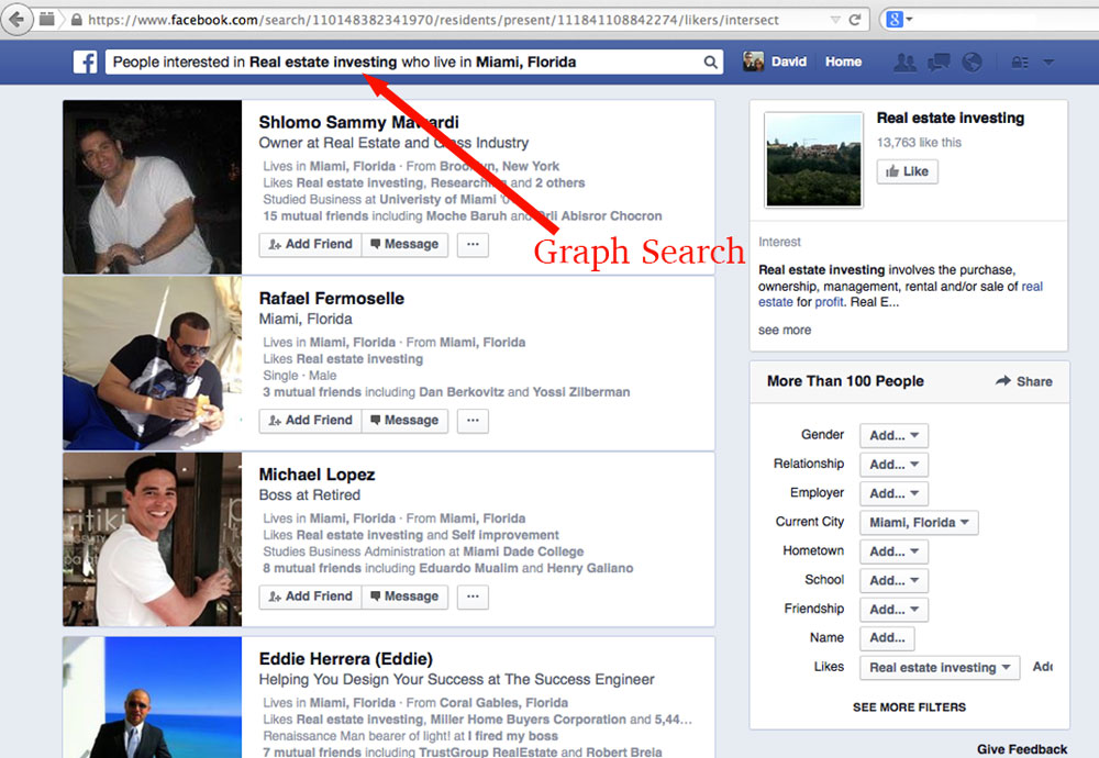 Facebook Graph Search for Real Estate