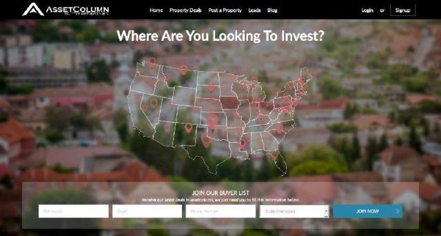 AssetColumn.com's Homepage